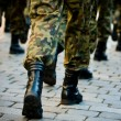 Soldiers march in formation — Stock Photo #2152893