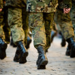 Soldiers march in formation — Stock Photo #2152914