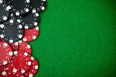 Kasino spel marker med kopia utrymme — Stockfoto