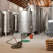 Royalty-Free Stock Photo: Wine Fermenting in huge vats in a wine cellar