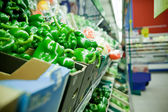 Picture of fresh bell peppers and other vegetabl — Stock Photo