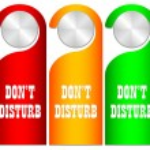 Don't disturb vector card — Stock Vector