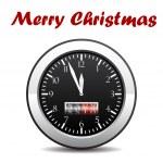 Christmas clock — Stock Vector