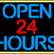 Open 24 hours - Stock Vector
