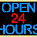 Open 24 hours — Stock Vector