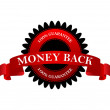 Stock Vector: Money back 100% guarantee