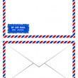 Air mail vector — Stockvectorbeeld