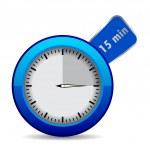 "Blue vector timer ""15 min"" — Stock Vector"