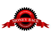 Money back 100% guarantee — Stok Vektör