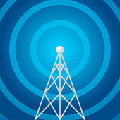 Radio tower shape — Stock Vector
