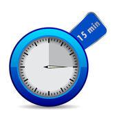 """Blue vector timer """"15 min"""" — Stockvektor"""