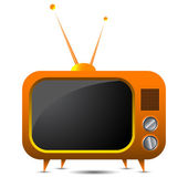 Tv retro naranja — Vector de stock