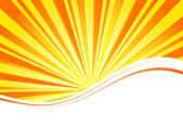 Sunburst para folleto de negocios — Vector de stock