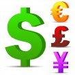 Royalty-Free Stock Vector Image: Currency vector symbols