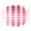 Stock Vector: Red halftone background