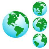 3d 地球 — 图库矢量图片