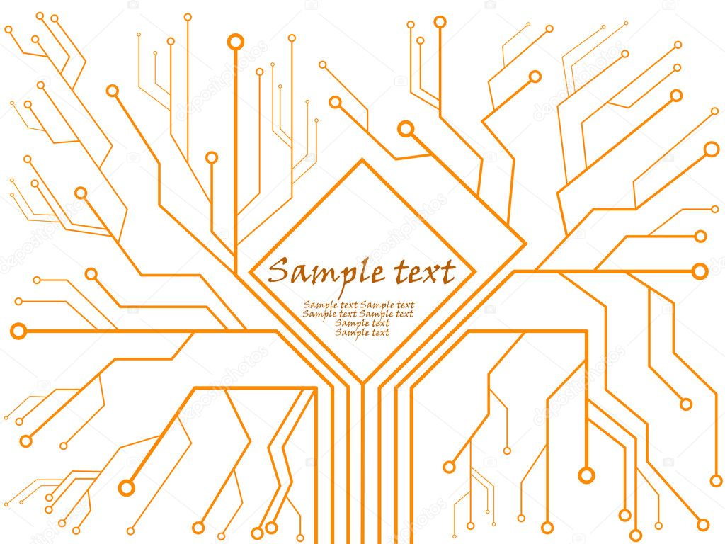 Sample Text Wallpaper Circuit Board With Sample Text
