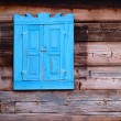 Photo of an old window in Lithuanian sty — Stock Photo