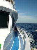 Walk on the yacht — Stock Photo
