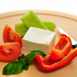 Feta and vegetables — Stock Photo
