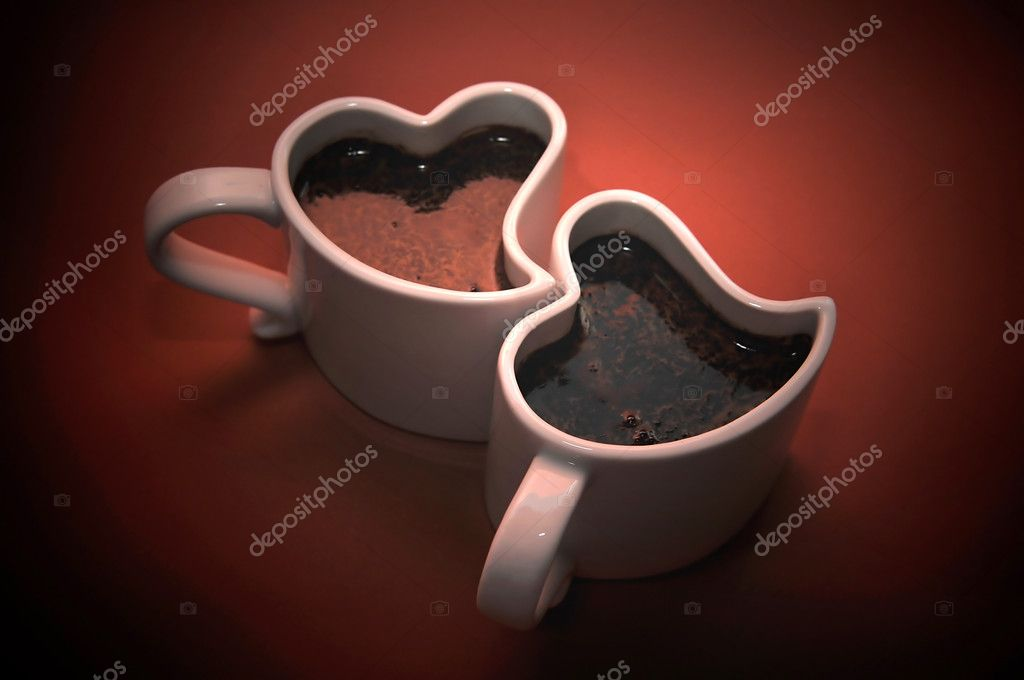 Valentines - cups in the shape of a heart. — Stock Photo #1639860