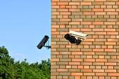 Security cameras — Stockfoto