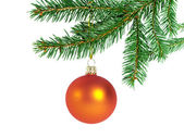 Orange christmas ball — Stock Photo