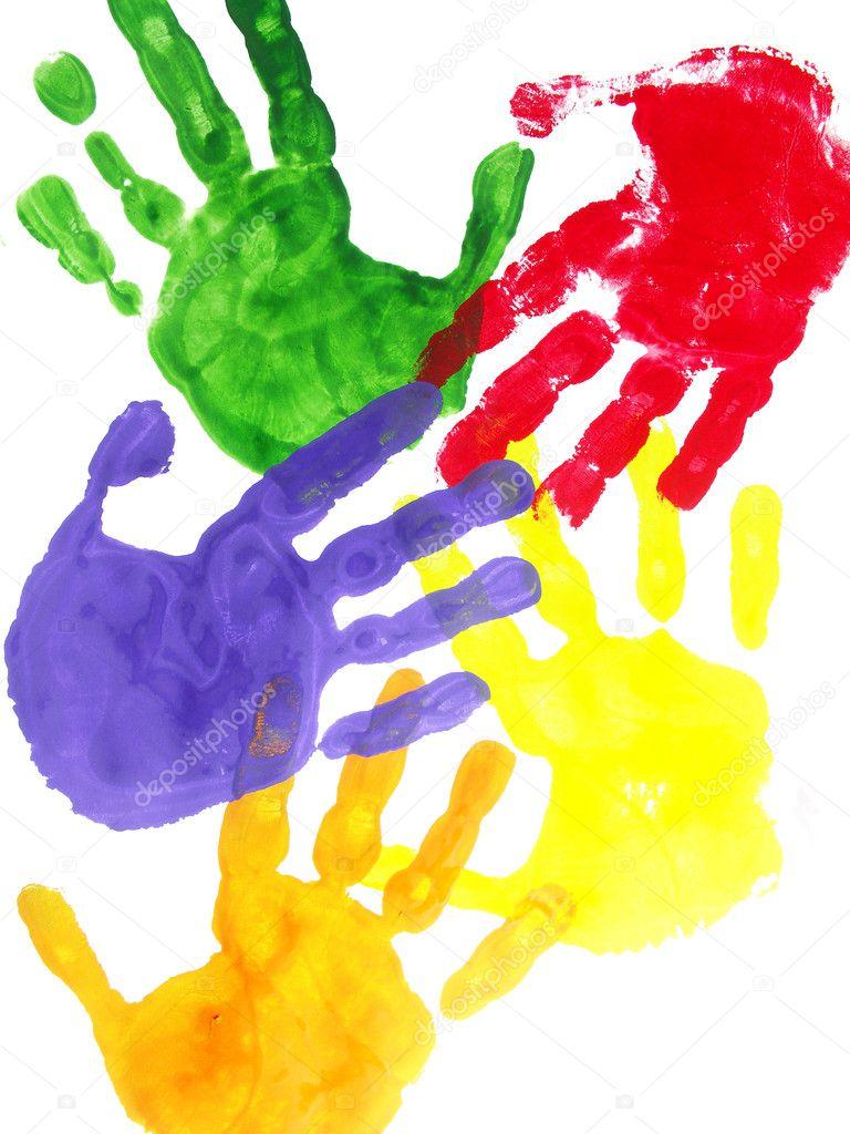 Как сделать отпечатки рук на бумаге - Mi-k.ru