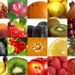 Composition of different fruits — Stockfoto