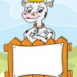 Royalty-Free Stock Vector Image: Friendly cow