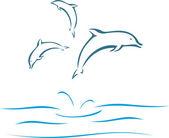Δελφίνια — Διανυσματικό Αρχείο