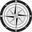 Vector de stock : Wind rose compass