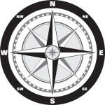 Větrná růžice kompasu — Stock vektor