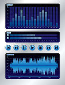 Blue sound mixer — Vettoriale Stock