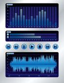 Blue sound mixer — Stock Vector
