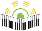 Music logo — Wektor stockowy