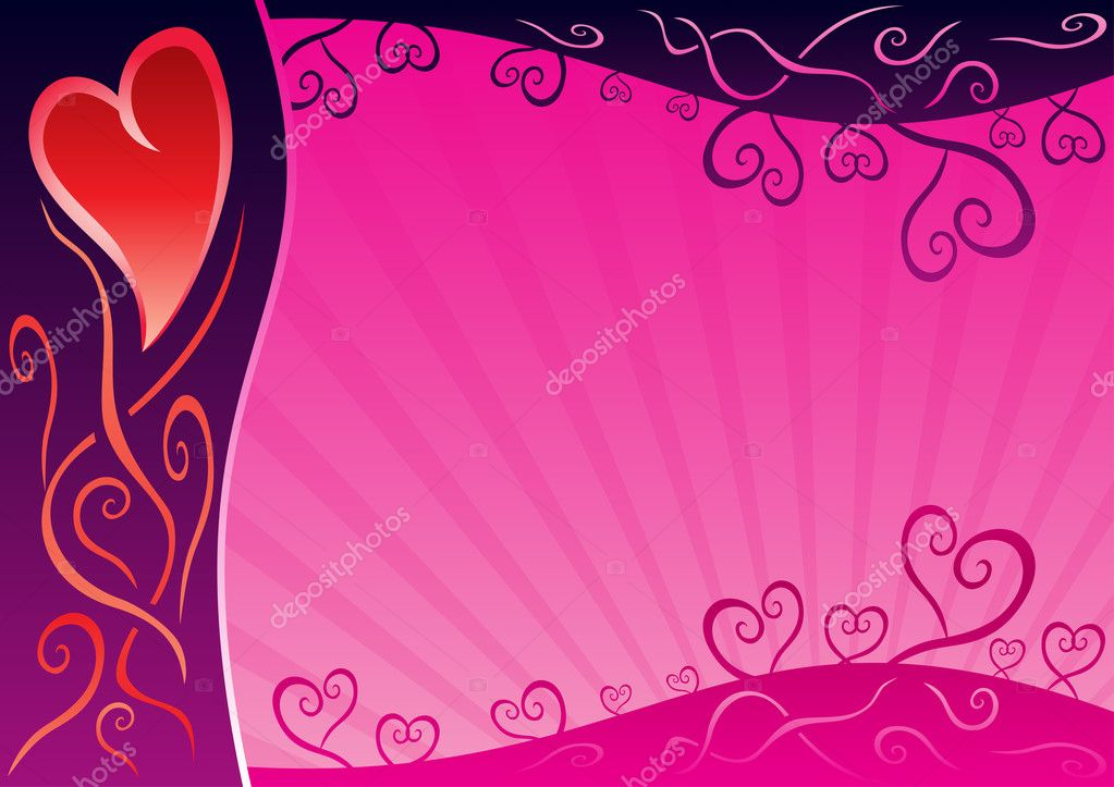 Sweet pink background for valentine post card — Stock Vector #1679116