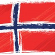 Royalty-Free Stock Vector Image: Grunge Norway flag