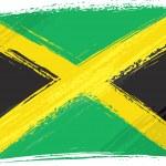 Grunge Jamaica flag — Stock Vector