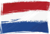 Grunge Netherlands flag — Stock Vector