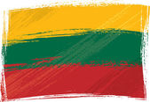 Grunge Lithuania flag — Stock Vector