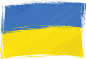 Grunge Ukraine flag — Stock Vector