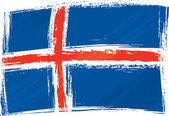 Grunge Iceland flag — Stock Vector
