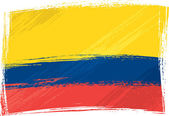 Grunge Colombia flag — Stock Vector
