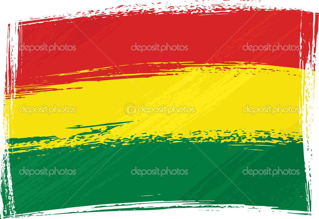 Bolivia national flag created in grunge style — Stock Vector #1684728
