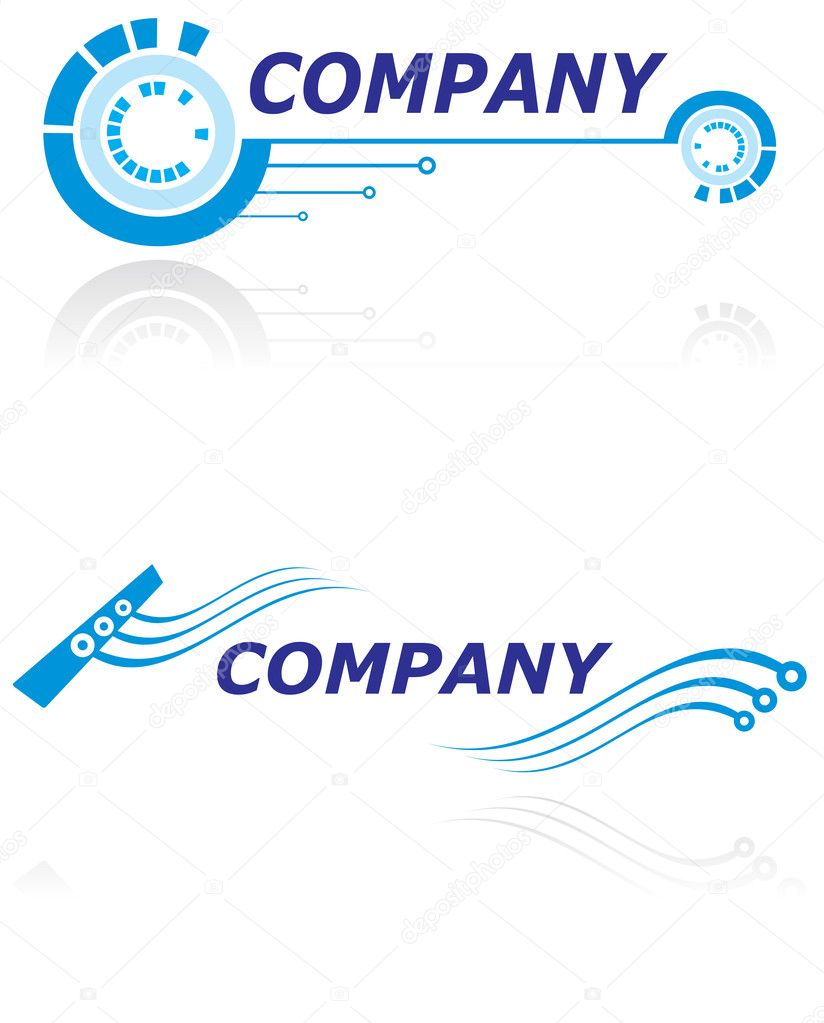 Two logo design templates for modern company — Stock Vector #1686557