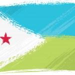 Постер, плакат: Grunge Djibouti flag