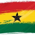 Постер, плакат: Grunge Ghana flag