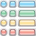 Buttons set — Stock Vector