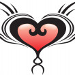 Heart crest tattoo — Stock Vector #1692086